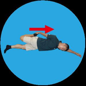⑤大腿四頭筋ストレッチ
