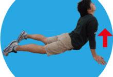 9.腹筋のストレッチ