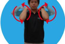 14.肩のアクティブストレッチ