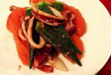 夏野菜とイカのアンチョビソテー